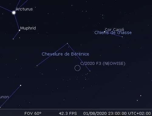 Observez la comète Neowise (C/2020 F3)