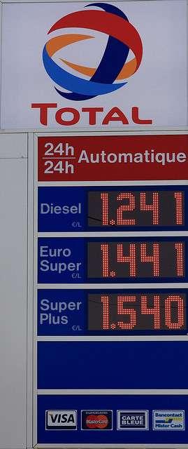 La TIPP représente 60 % du prix du super sans plomb et 52 % du prix du gazole (chiffres de 2007). © Eisenheim CC by-nd 2.0