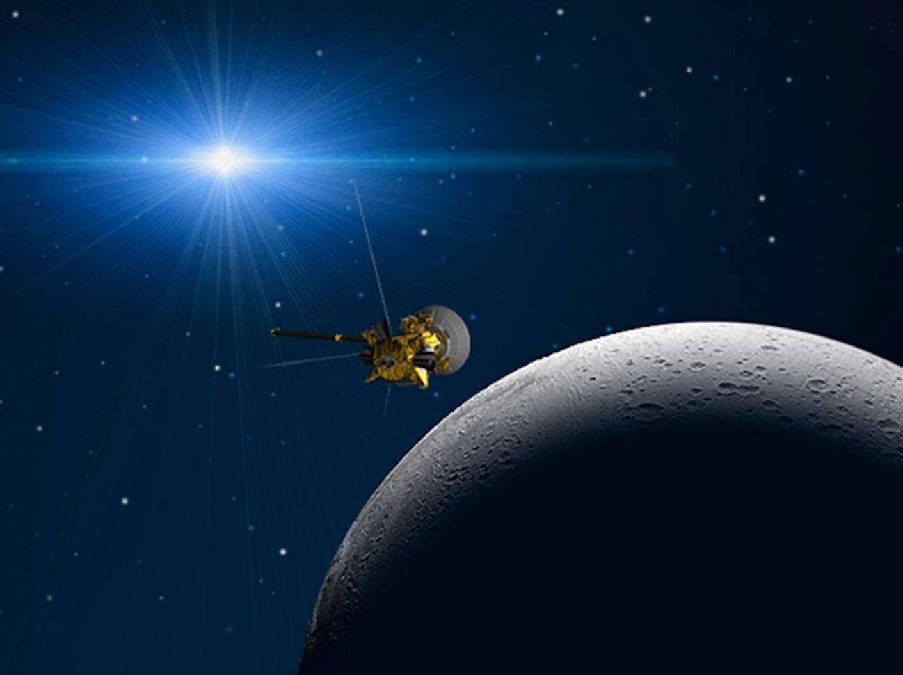 Ce survol prévu le 30 novembre n'est pas le plus rapproché effectué par Cassini. En octobre 2008, la sonde est passée à seulement 25 kilomètres de sa surface. © Nasa/JPL