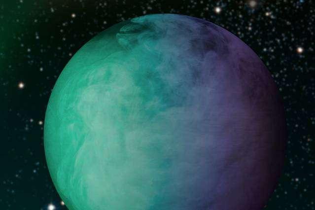 Grâce à leur méthode, des chercheurs du MIT ont pu caractériser les nuages de la géante gazeuse Kepler-7b, constamment orientés vers l'étoile-parent. Les températures élevées (1.400 °C en moyenne) suggèrent l'existence de vapeurs minérales, principalement de l'enstatite. © Nasa, Jose-Luis Olivares, MIT