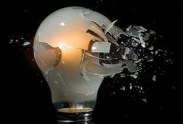 Ampoule cassée - Crédits DR.