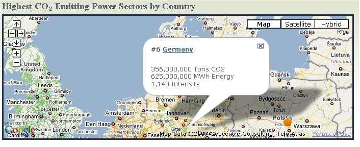 En Europe, les centrales allemandes sont en tête.