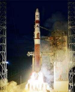 Le lancement de la toute nouvelle fusée Delta-IV.crédit : Boeing