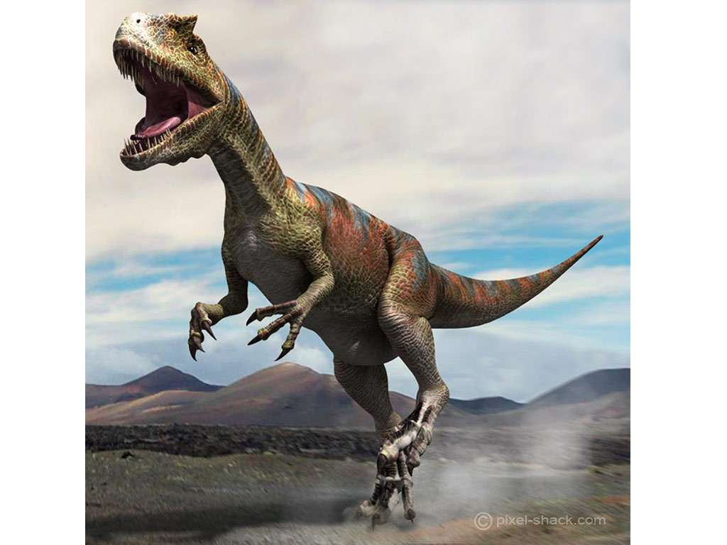 Allosaurus. © Courtesy of Jon Hugues, www.pixel-shack.com