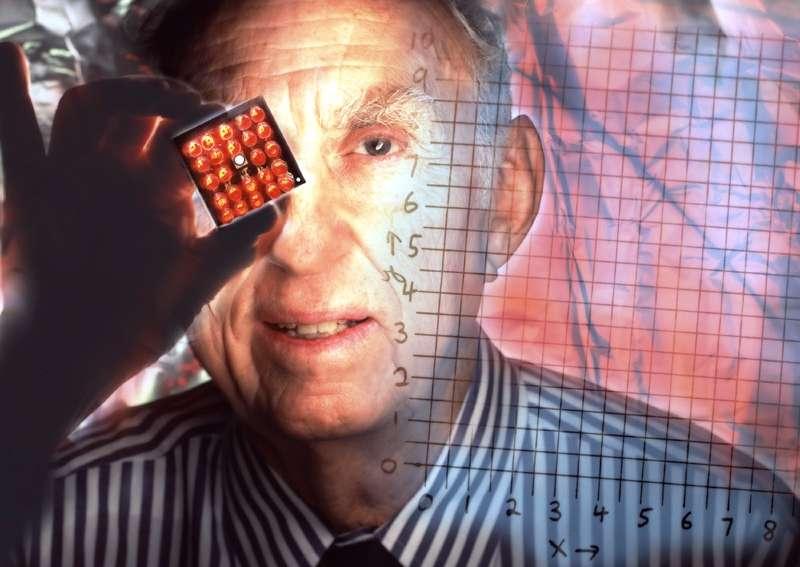 Le prix Nobel de physique Martin Perl, le découvreur du tauon, cousin lourd de l'électron. © Peter Ginter