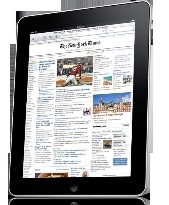 L'iPad, une belle tablette de 700 grammes pour surfer chic. © Apple