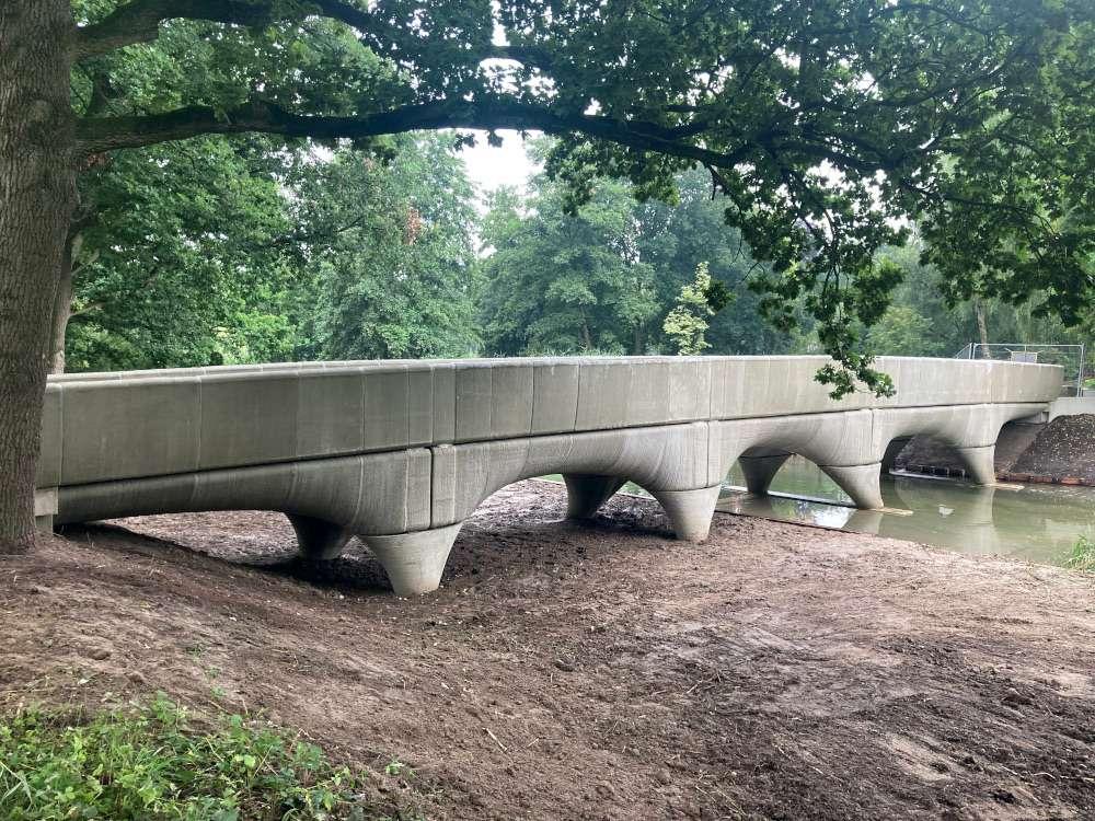 Le pont de Nimègue, aux Pays-Bas, a été entièrement imprimé en 3D. © bridgeproject.nl