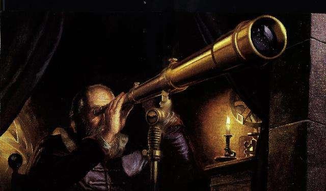 En 1610, Galilée invente la lunette astronomique qui portera son nom, instrument permettant d'observer les astres à fort grossissement. © Christian Jégou, observatoire de Paris, d'après Galilée, le messager des étoiles (éd. Découvertes Gallimard)
