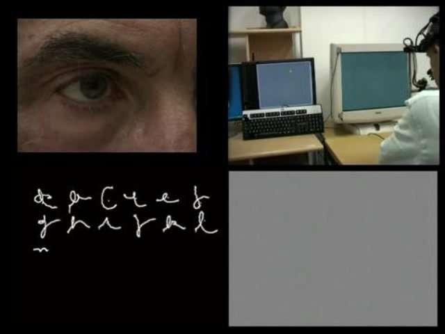 On peut écrire avec les yeux