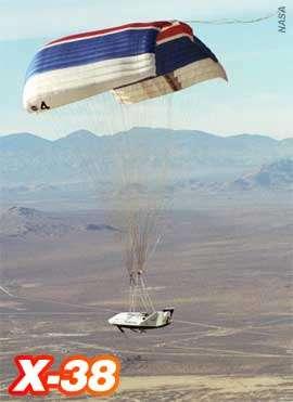 Succès du 8ème vol de l'X-38, le 13 décembre 2001Crédit photo : NASA