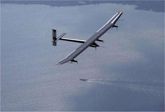Le HB-SIA, premier prototype de Solar Impulse, lors de son troisième vol, long de trois heures, le 8 mai 2010. © Solar Impulse