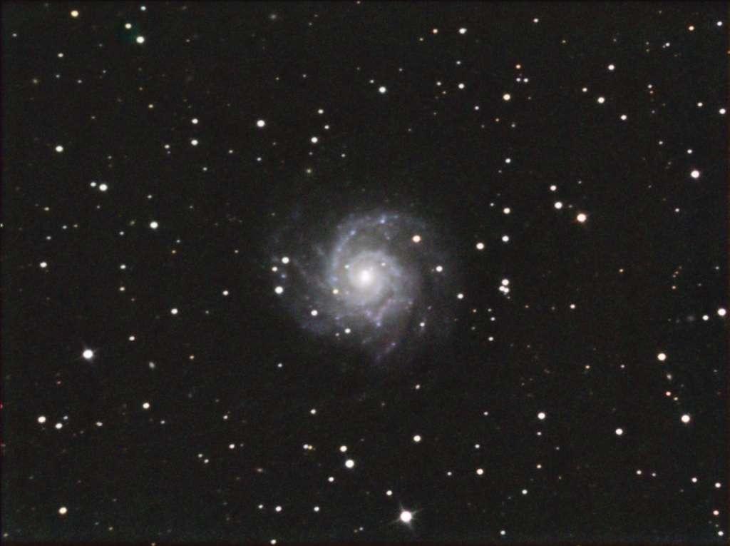 """Plus de 4 heures de pose avec une caméra CCD derrière un télescope de 20 cm ont été nécessaires à """"Chamois"""" (son pseudo sur le forum astro de Futura-Sciences) pour réaliser cette image."""