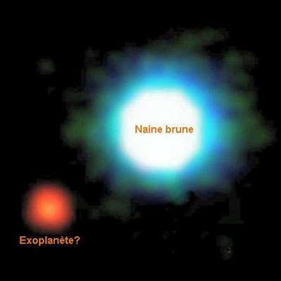 L'exoplanète 2M1207b et son étoile, la naine brune 2M1207a