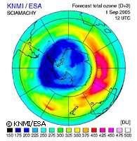 Trou de la couche d'ozone en 2005