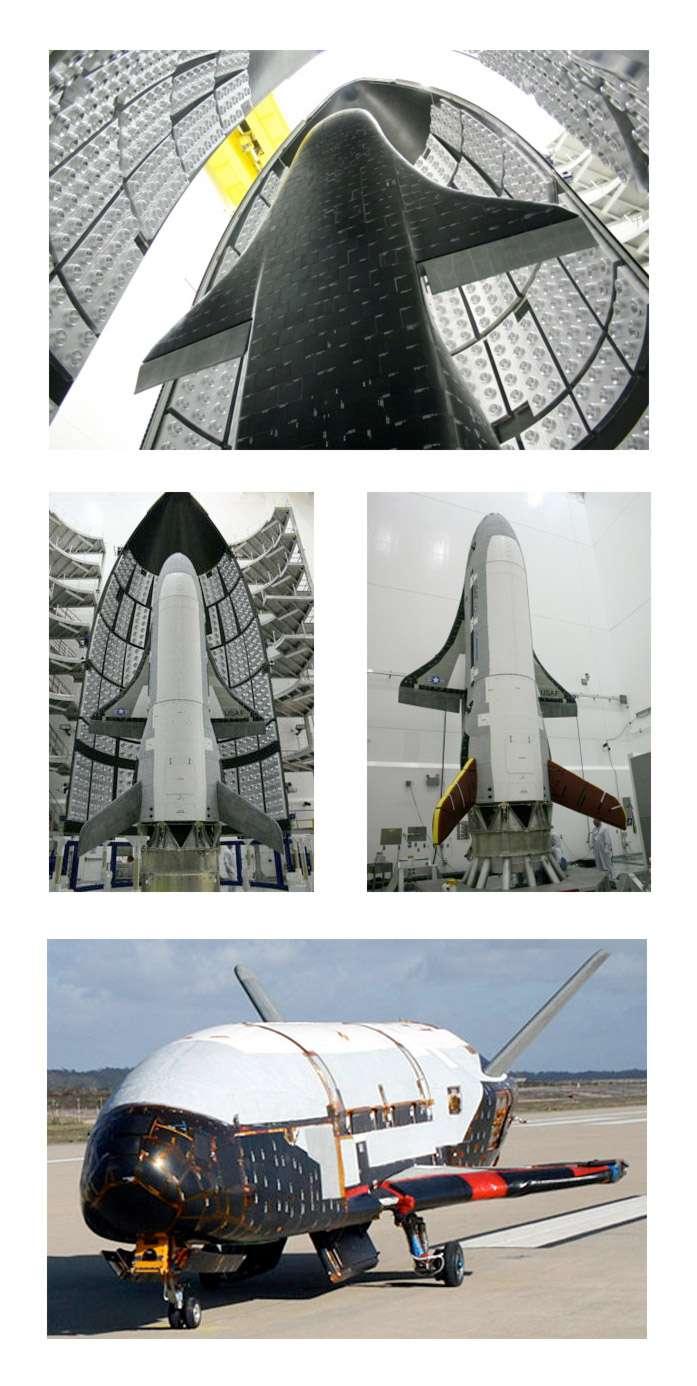L'X-37B préfigure l'avenir des technologies spatiales des États-Unis qui seront utilisées pour d'hypothétiques véhicules spatiaux réutilisables totalement ou partiellement. La vocation militaire de ce programme est une étape de plus vers l'utilisation accrue de l'espace à des fins militaires. © Boeing