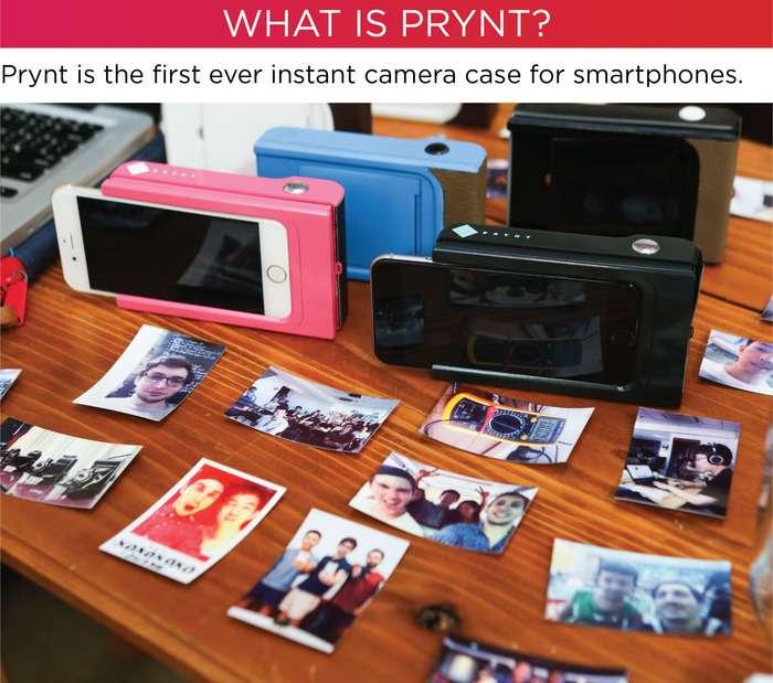 La coque-imprimante Prynt a été conçue par une start-up montée par six jeunes Français. Elle imprime en 30 secondes la photo qui vient d'être prise ou bien l'une de celle déjà enregistrée dans l'appareil. © Prynt