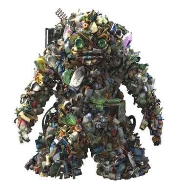 Les 480 kg de déchets par an et par habitant à réduire. © Ademe
