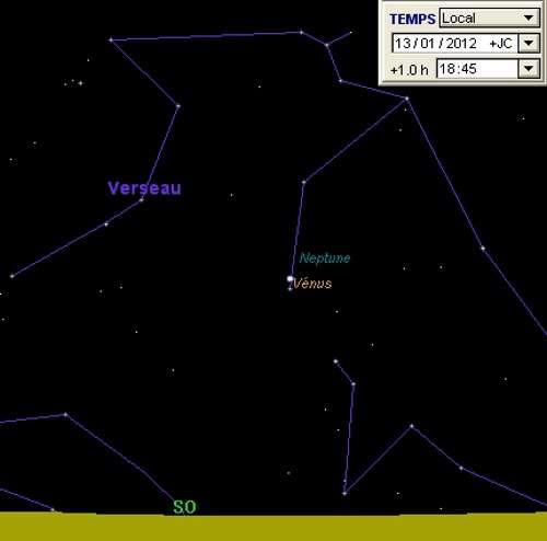 Vénus en rapprochement avec Neptune