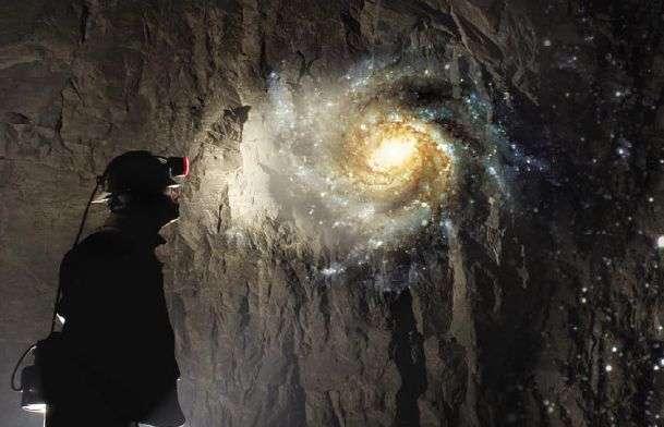 Lumière d'espoir au fond de la mine (Crédit DUSEL)