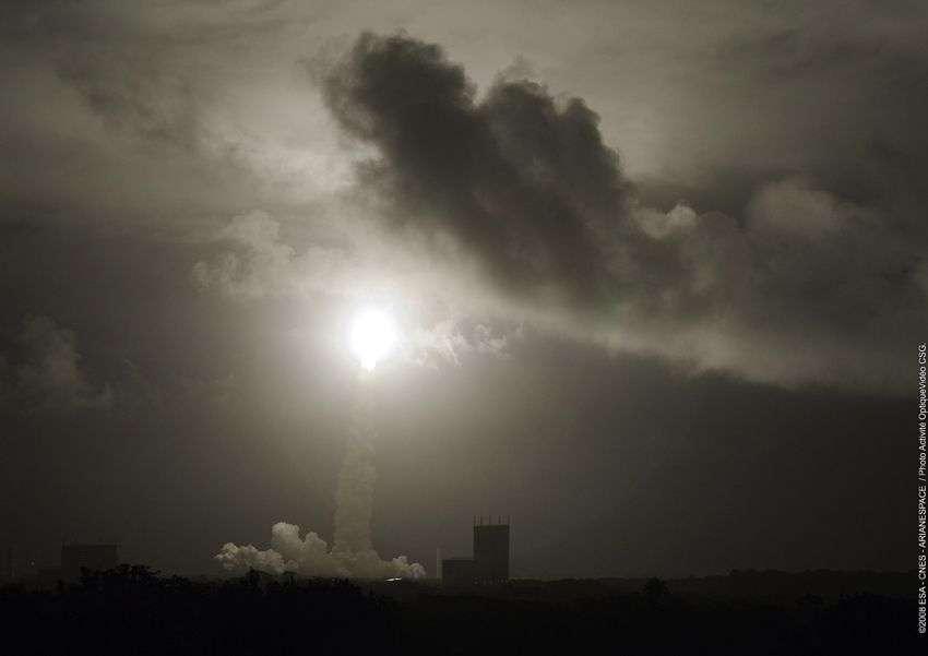 Lancement de l'ATV. Crédit : Esa, Cnes, Arianespace