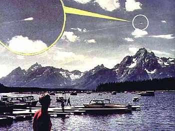 10 août 1972, au Wyoming. Un million de tonnes de rochers survolent le parc de Grand Leton sous le regard des touristes incrédules. Document anonyme.