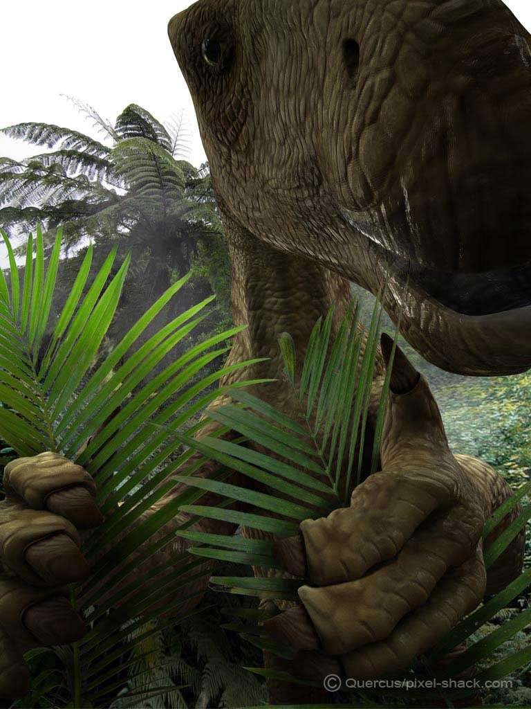 Iguanodon. © Courtesy of Jon Hughes, www.pixel-shack.com
