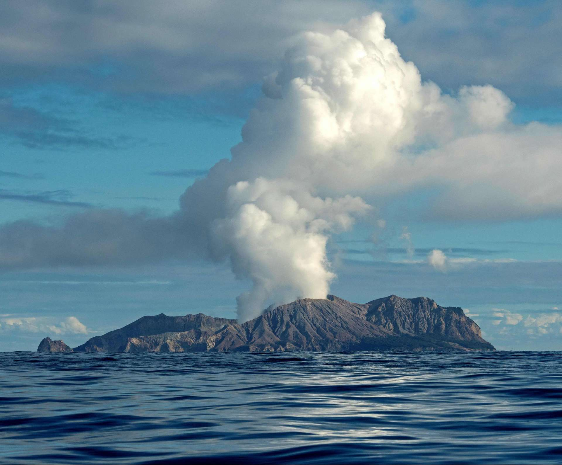 Le volcan de White Island est réputé actif. © AFP, Courtesy of Chris Firkin