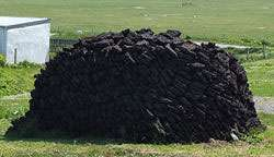 Stock de tourbe, Écosse. Crédits : MacIomhair - Wikipedia