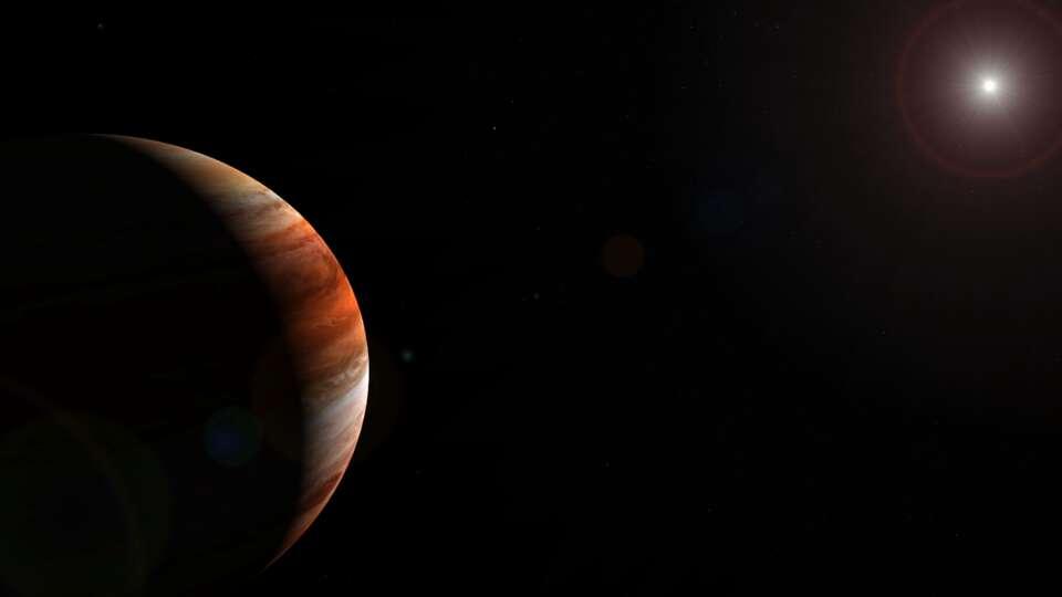 Vue d'artiste d'une exoplanète. © Dessin HarbingerDawn, CC BY SA