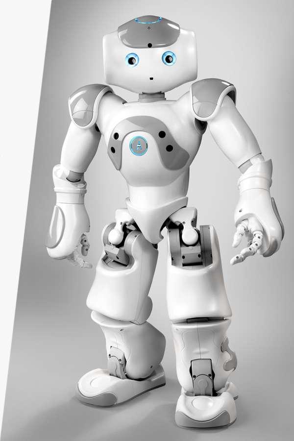Nao, le petit humanoïde (58 centimètres, 4,3 kg), réfléchit sous Linux. © Aldebaran Robotics