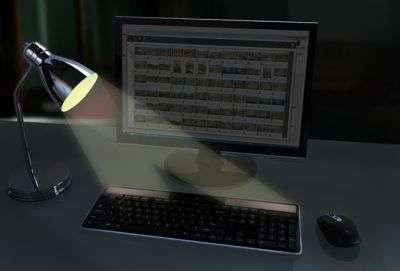 Le Logitech Wireless Solar Keyboard K750 récupère un peu de la lumière inutile. © Logitech