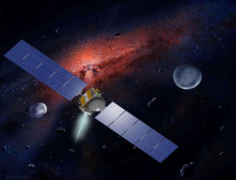 Propulsée par un moteur ionique, Dawn devrait atteindre Vesta en juillet 2011. © W.Hartmann (Ucla) & Nasa/MCREL