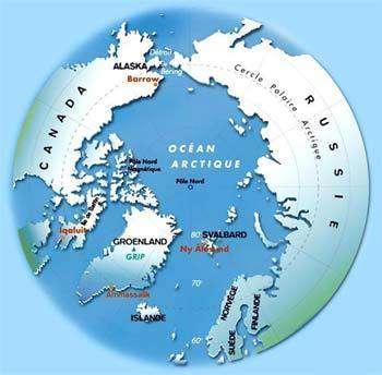 L'Arctique (Pole Nord).crédit : IPEV