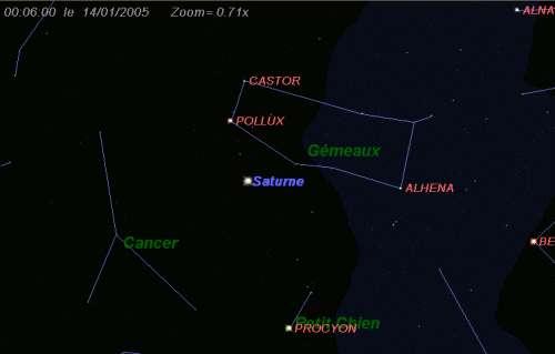 La planète Saturne est en opposition
