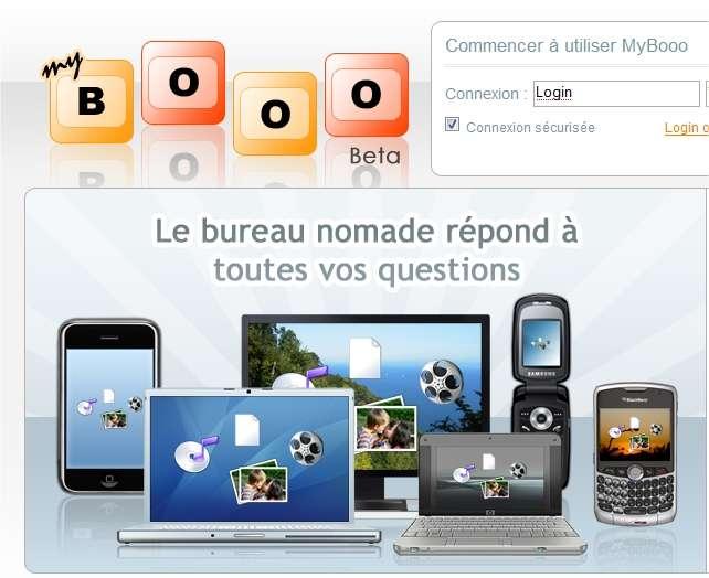 Le service Mybooo, gratuit jusqu'à 1 Go, nécessite uen inscription en ligne.
