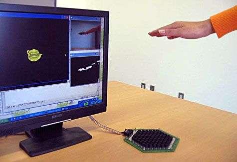 Le dispositif complet en action. Crédit Siggraph 2008