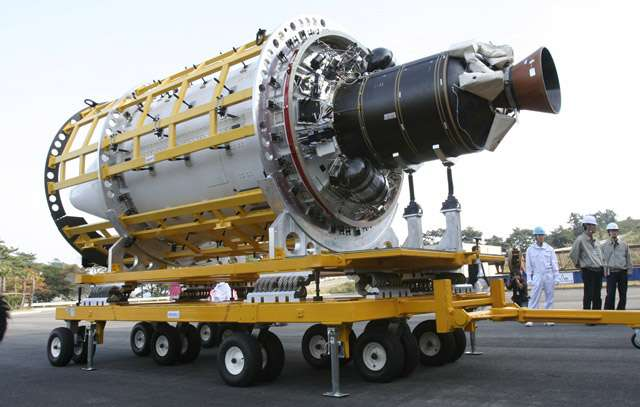 Le deuxième étage du KSLV-1 développé par la Corée du Sud est dimensionné pour fonctionner 58 secondes. Crédit Kari