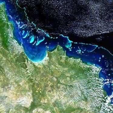 La grande barrière de corail vue par Envisat