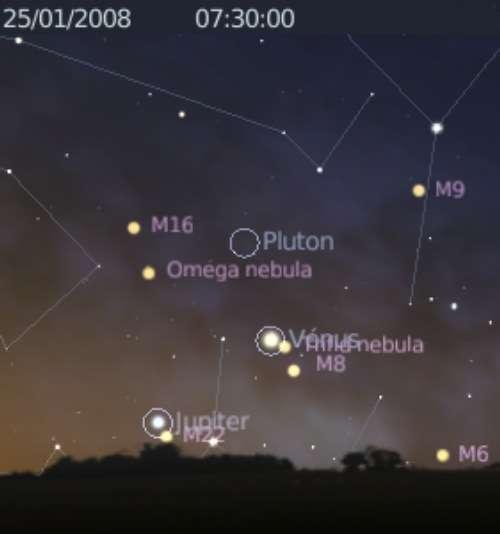 La planète Vénus frôle l'amas d'étoiles M21