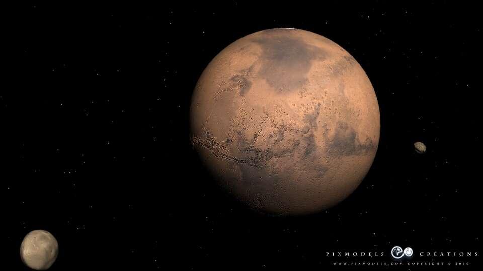 Un voyage sur Mars vous tente ? Découvrez l'animation vidéo que nous propose pixmodels.com. Crédit pixmodels.com