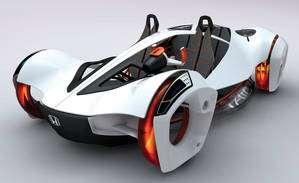 Votre voiture de demain ? La Honda Air, concept car au moteur à air comprimé. © Honda