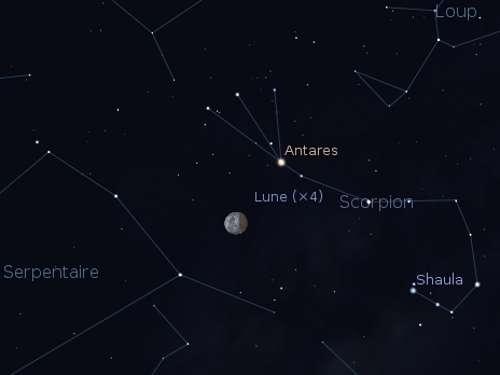 Le 04/06/2012 : éclipse partielle de Lune visible aux antipodes de l'Asie au continent américain. ©