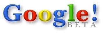 A l'instar de Yahoo!, la toute première version de Google beta incluait un point d'exclamation. Crédit Google.