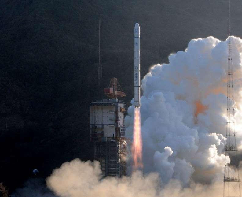 Le premier lancement de 2012 a été chinois. Le 13 janvier, la Chine a lancé avec succès un satellite météorologique géostationnaire à l'aide d'une fusée CZ-3A. © Chinanews