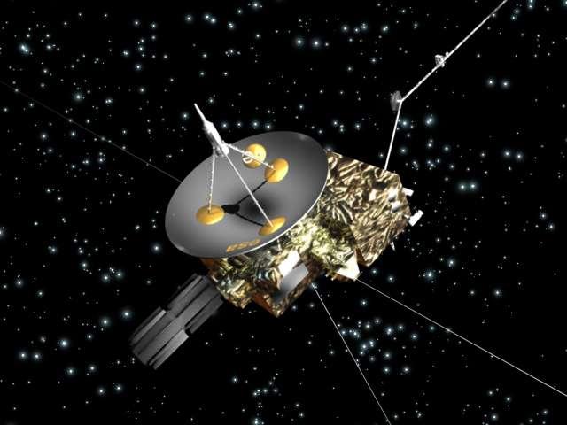La sonde Ulysse, avec sa grande antenne, restée constamment dirigée vers la Terre tant que l'énergie à bord était suffisante pour l'orienter. © Esa
