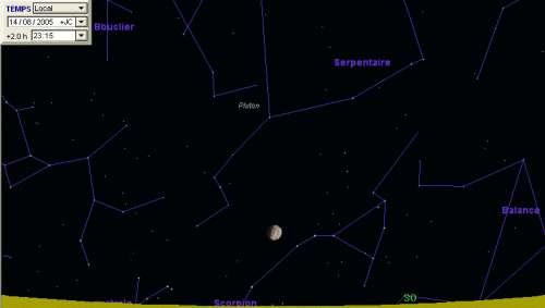 La Lune est en conjonction avec l'étoile Antarès