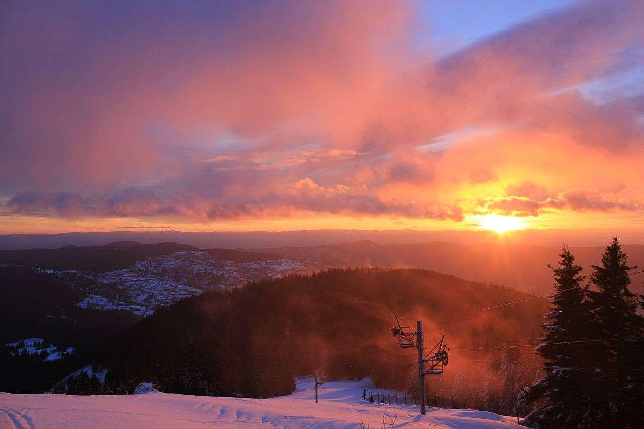 Les stations de ski des Vosges ont été l'un des berceaux du ski français de compétition. © Jef132, Wikimedia Commons, cc by sa 3.0