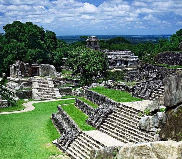 Ruines de Palenque, dans le Chiapas. © Jan Harenburg, Wikimedia Commons, cc by 3.0