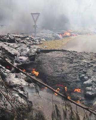 Eruption du Piton de la Fournaise il y a quelques années.