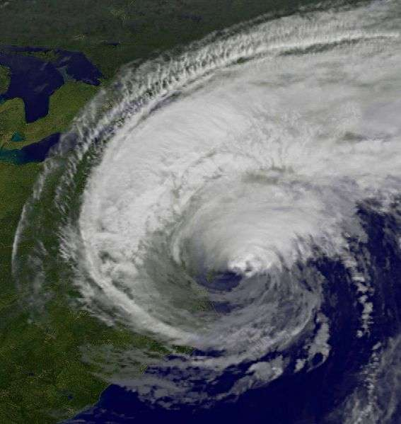 L'ouragan Irène n'a pas atteint la violence initialement prévue. Après avoir épargné New York, il se dirige decrescendo vers le Canada. © Nasa